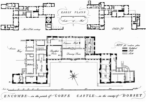 House Drawing Plan corfe castle british history online