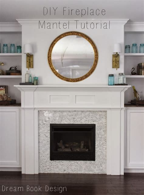 diy fireplace mantel tutorial book design