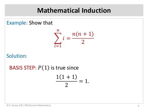 tutorial questions on mathematical induction math induction principle slides