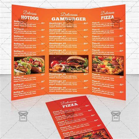 fast food premium tri fold brochure template