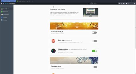 firefox themes full screen mozilla tests new get add ons page in firefox ghacks
