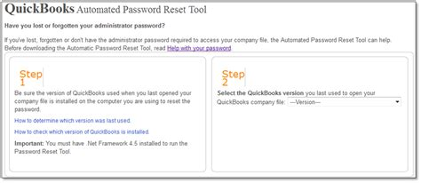 Password Reset Tool Intuit | use the automated password reset tool for quickbooks desktop