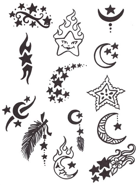 henna tattoo designs stars henna sun and moon picture