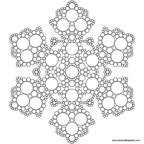 don t eat the paste snowflake mandala to color