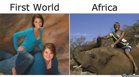 Africa Meme - the difference between africa and the third world