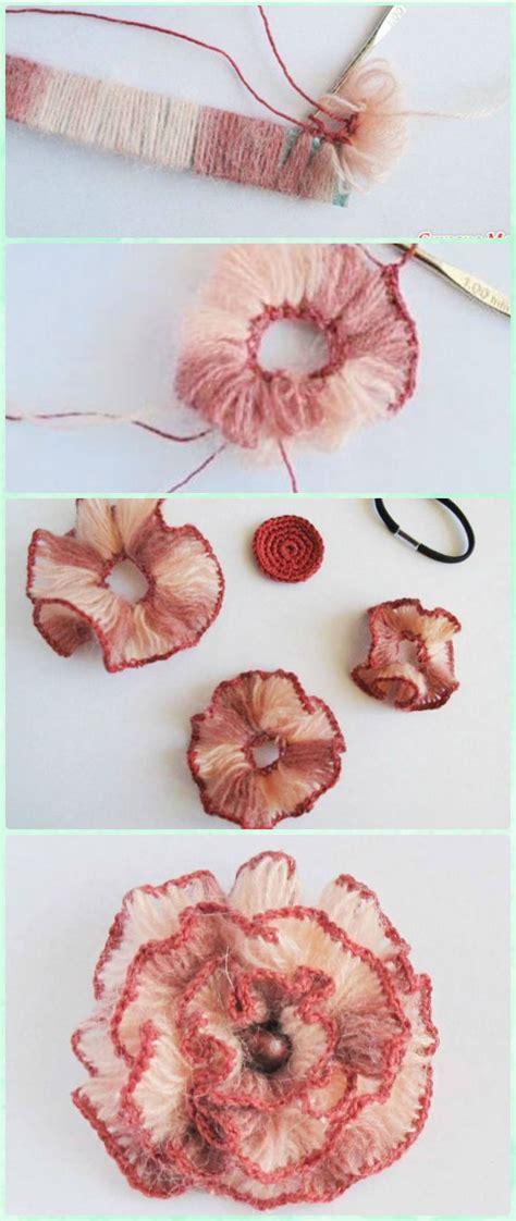 Stich Motif 3d crochet 3d flower motif free patterns crochet crochet flowers and craft