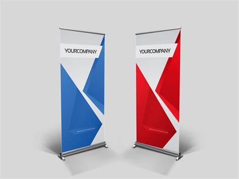 business roll up banner v001 presentation templates on