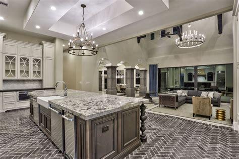 transitional home design gourmet kitchen steps