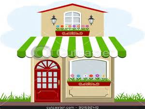 tiny house cartoon cute little house and store stock vector clipart vector