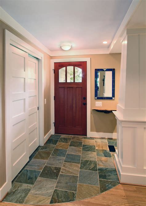 sliding closet doors Entry Traditional with column