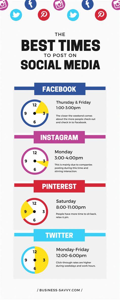 design love fest social media workshop best times to post on social media infographic