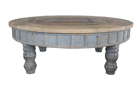 coffee tables furniture bazaar factory 4 rustic round coffee table antique grey cen 02