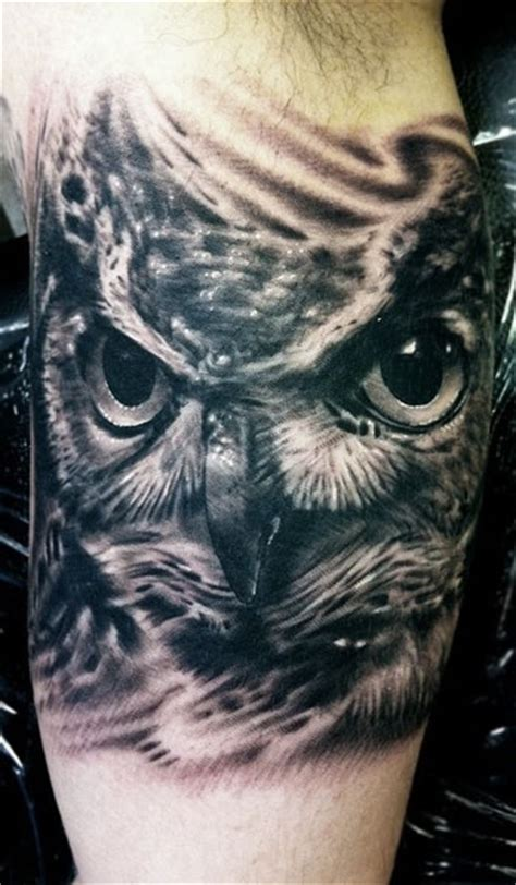 black and white owl tattoo adorable black owl tattoomagz