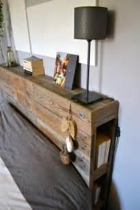 construire une tete de lit en bois avec rangement mzaol