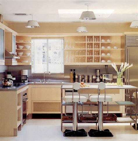 open shelf kitchen cabinet ideas retro modern kitchen decorating ideas open kitchen