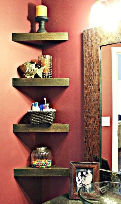 small corner shelves for bathroom how to build corner shelves for bathroom diy cozy home