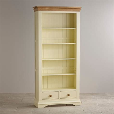 country cottage oak bookcase painted