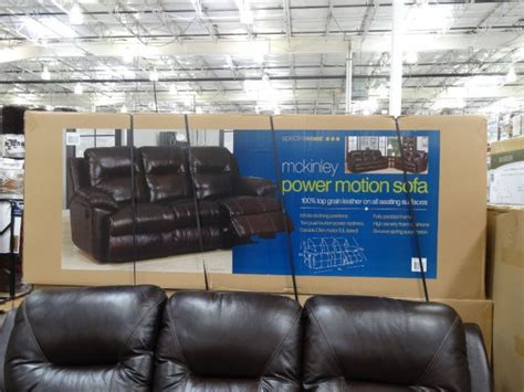 costco electric reclining sofa spectra mckinley leather power motion sofa