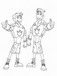 kratts coloring pages kratts free colouring pages