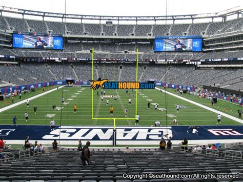 nys section 5 football metlife stadium section 126 lower endzone seating view at