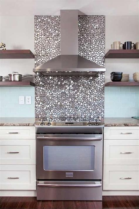 silver tile bling for the home pinterest