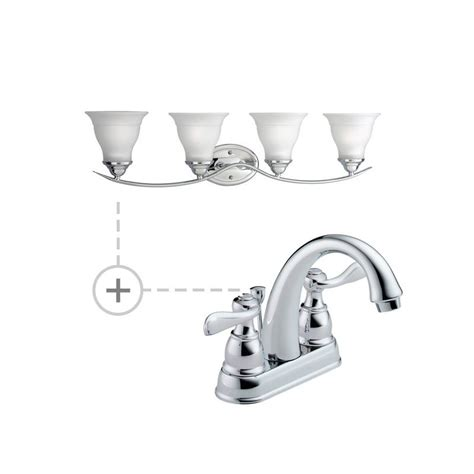 delta bathroom light fixtures delta b2596lf p3193 chrome chrome windemere centerset