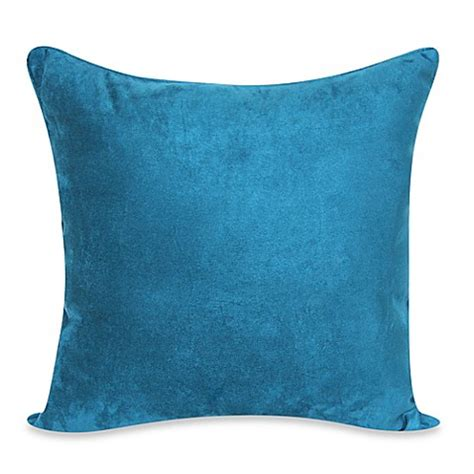teal bed pillows buy heavy faux suede 20 inch throw pillow in dark teal