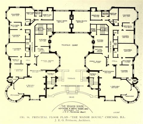 mansions blueprints floor plan of the manor house chicago floor plans