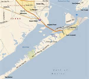 galveston on map galveston seawall map