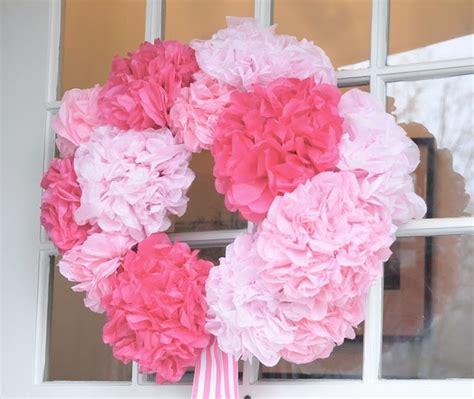 tissue paper flower wreath tutorial diy pink tissue paper flower wreath this would be