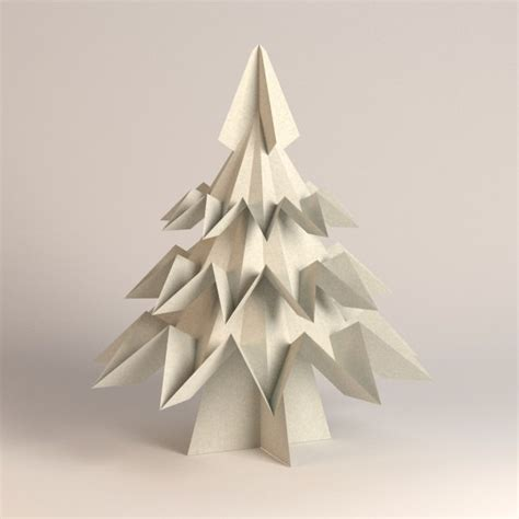 How To Make Tree Model From Paper - 3d model of paper tree