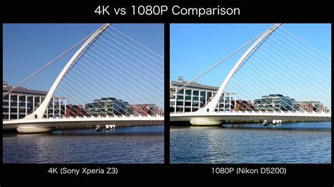 4k comparison 4k vs 1080p side by side comparison