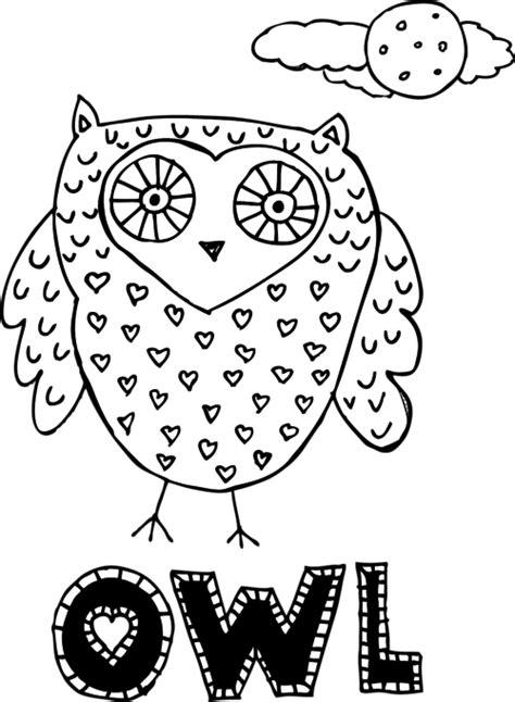 owl doodle coloring page doodle coloring page owl kidspressmagazine com