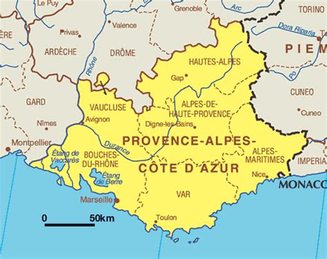 La Provence Frankreich by Provence Map Free Printable Maps