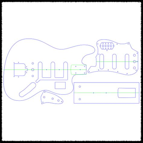stratocaster routing template bass vi guitar routing templates faction guitars