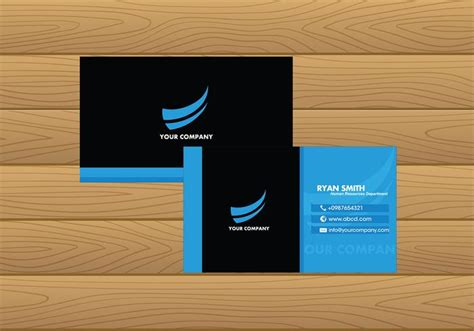 free name card template vector name card template blue free vector free vector