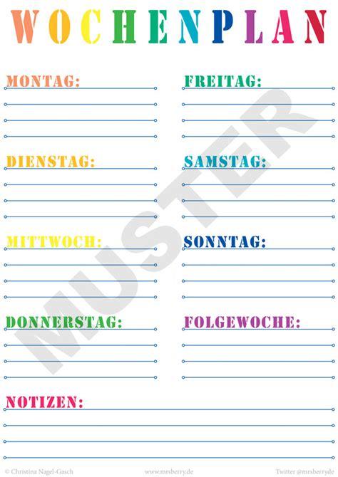 Wochenplan Haushalt Familie 4630 by Printable Wochenplan Zum Kostenlosen