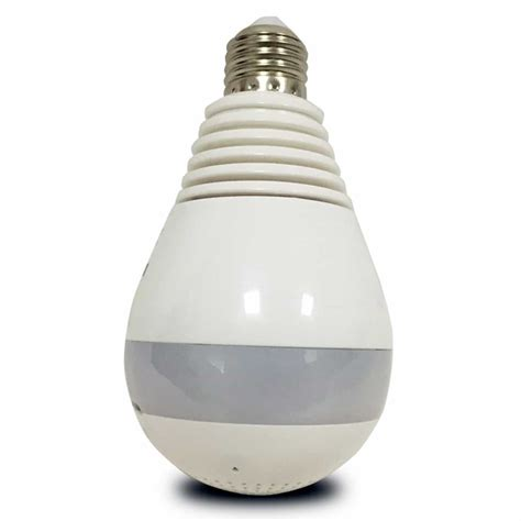 light bulb listening device 360 degree panoramic 1080p light bulb with wifi