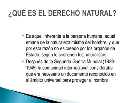 derecho natural derecho natural y derecho vigente