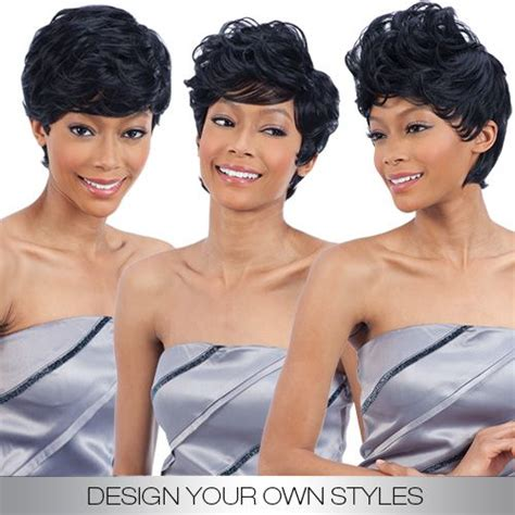 modern pixie 19pcs weave short hair extension freetress equal synthetic hair weave design your own