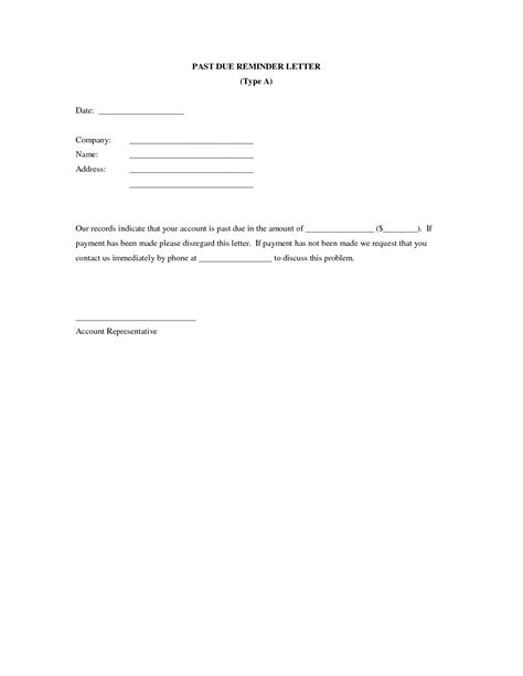 past due letter template past due invoice letter