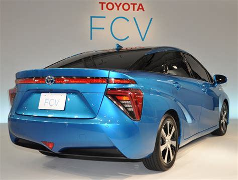 Toyota Fuel Cell Vehicle Charged Evs Toyota Posts Pix And Price Of Its Hydrogen