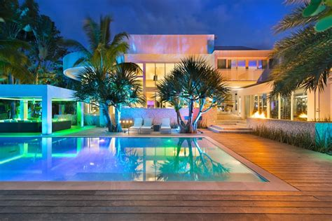 mansion lights high end luxurious modern mansion with colorful lighting
