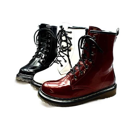 Boot Fashion Import Bf3517 patent lace up thick sole fashion ankle boots new ebay