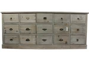 meuble semainier chiffonnier grainetier bois 15 tiroirs