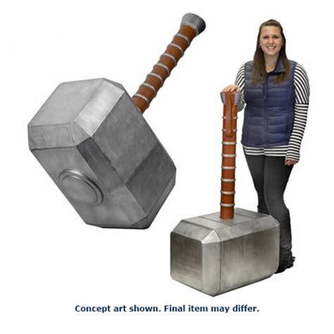 marvel thor s hammer oversized foam prop replica neca
