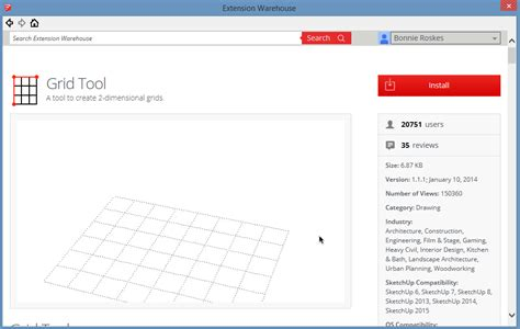 sketchup layout grid lines intro to extensions part 1 extension warehouse daniel tal