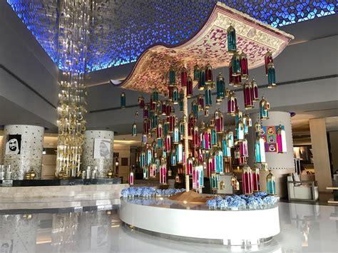 fairmont dubai magic carpet ramadan decorations popsugar