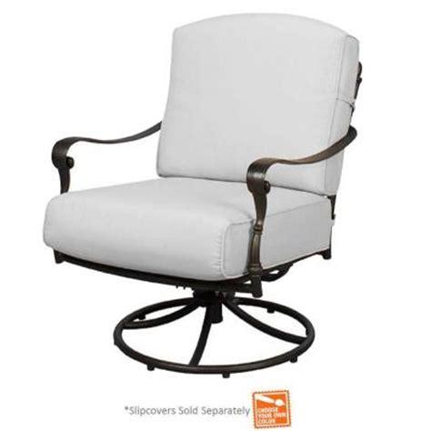 swivel rocker chair slipcovers hton bay edington patio swivel rocker lounge chair with