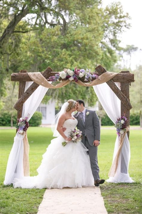 Wedding Arch Ideas With Burlap by 100 Beautiful Wedding Arches Canopies Hi Miss Puff